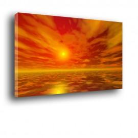 Zachód słońca nad morzem - obraz nowoczesny nr 2002