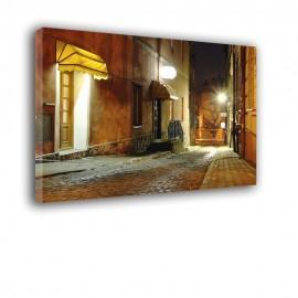 Uliczka w nocy - obraz na płótnie nr 2108
