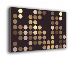 Brązowe kropki - obraz na płótnie nr 2111