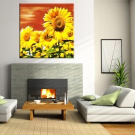 Ogniste słoneczniki - obraz nowoczesny - kwiaty nr 2145