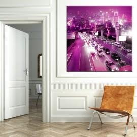 Fioletowe miasto - obraz na ścianę nr 2146