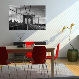 Czarno biały most Brookliński - obraz nowoczesny nr 2155