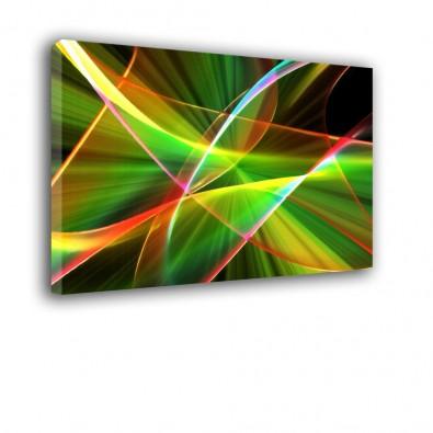 Zielona przestrzeń - obraz nowoczesny abstrakcja nr 2156