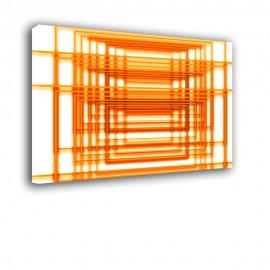 Pomarańczowe zszywki - obraz nowoczesny abstrakcja nr 2158
