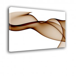 Brązowy woal - obraz nowoczesny - abstrakcja nr 2172
